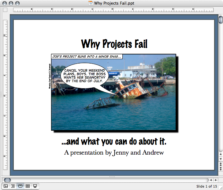 Why Projects Fail presentation screenshot