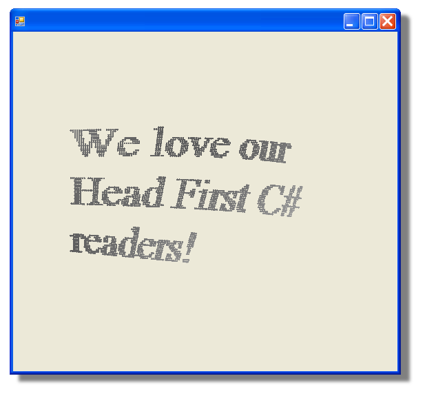 We love our Head First C# readers